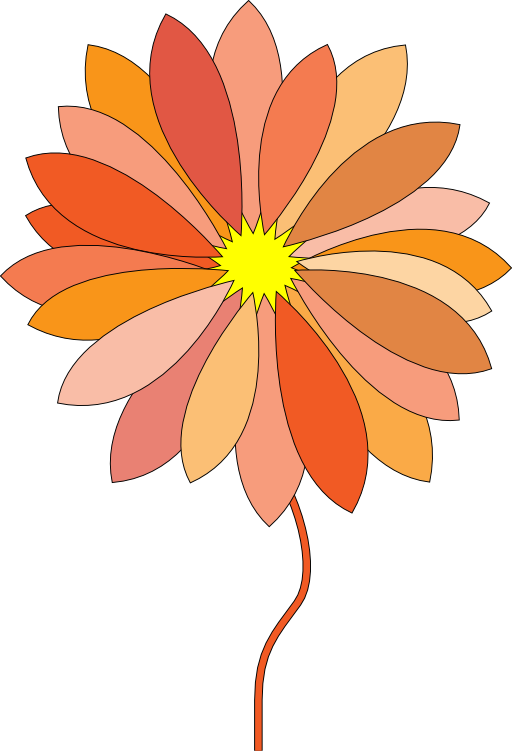 I royalty free public. Flower clipart cartoon