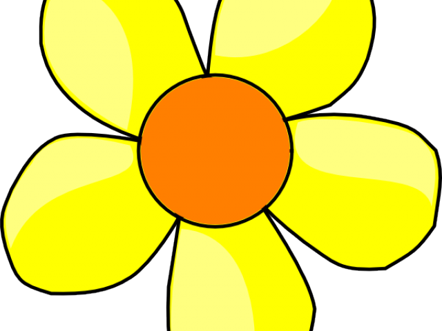 Yellow free on dumielauxepices. Flower clipart cartoon