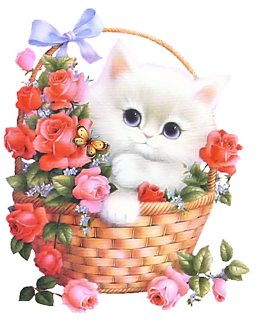 Kittens clipart flower. Image du blog belleschoses