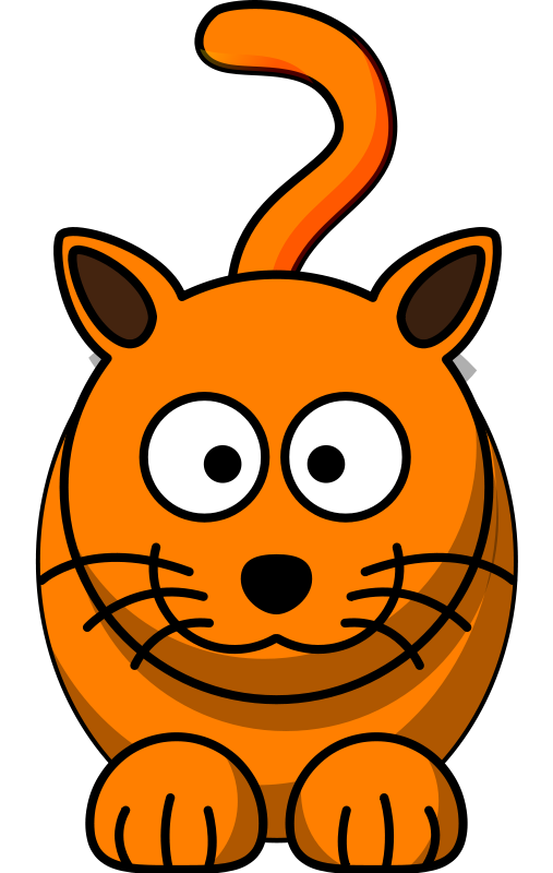 Cute cartoon . Clipart cat animation
