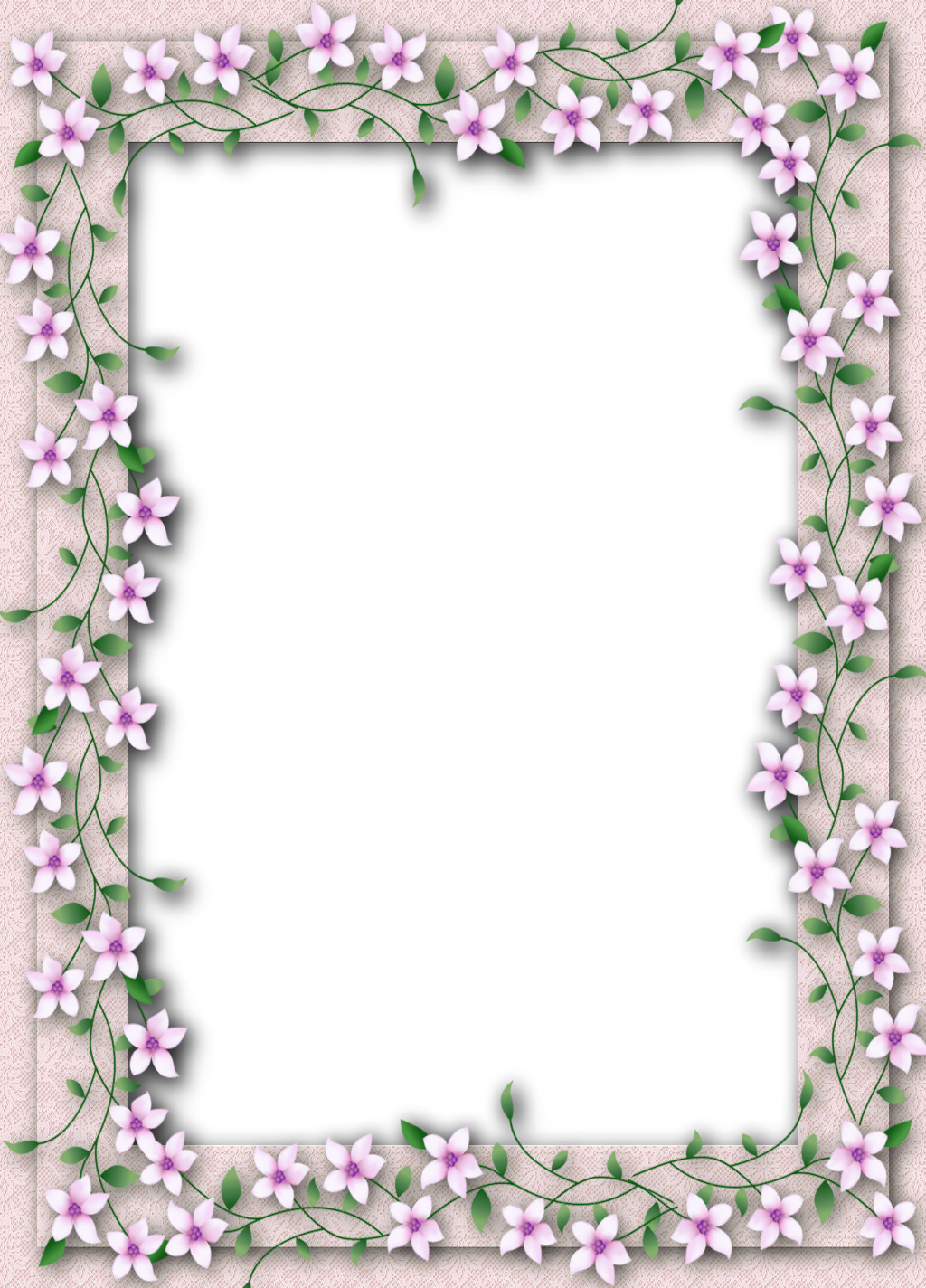 Frame png transparent. Delicate flower gallery yopriceville