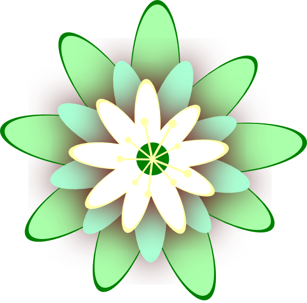 Lotus clipart large flower. Green clip art at