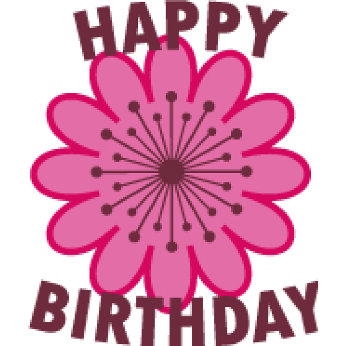 Flowers clipart happy birthday. Golf balls personalised pink