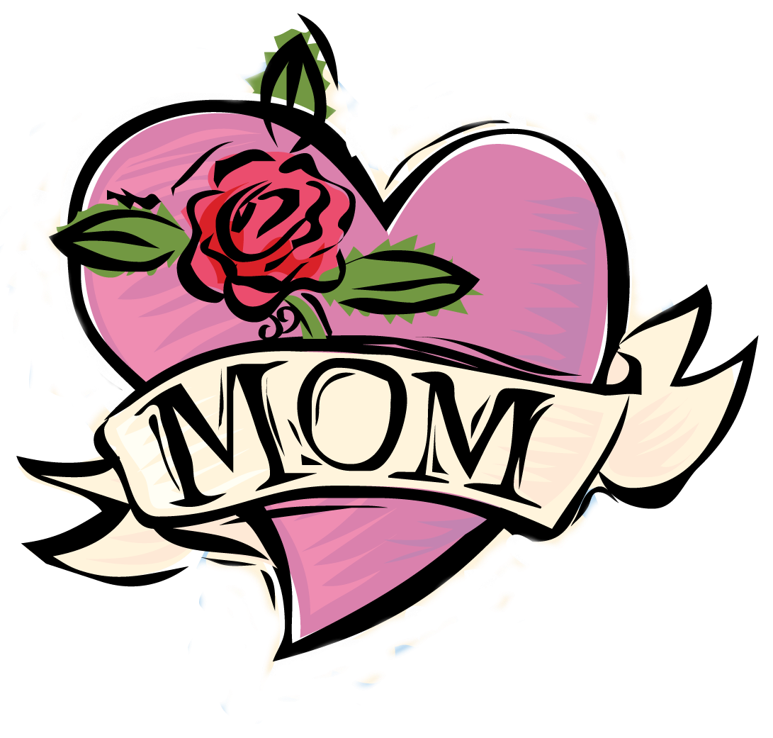 Mom tattoo needlepoint rose. Flower clipart happy mothers day