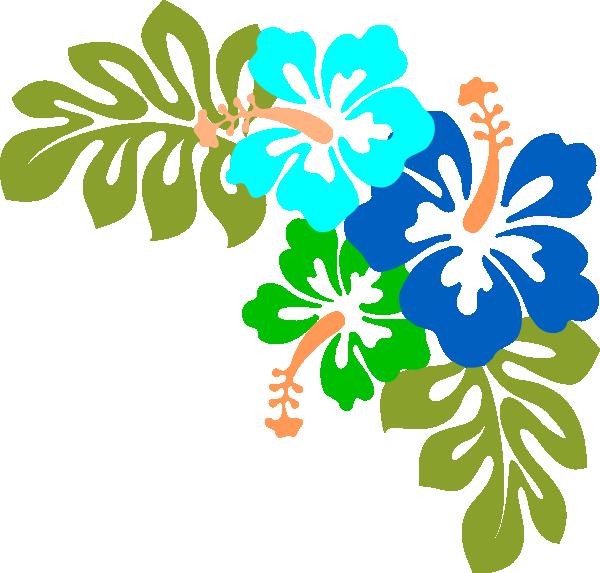 blue hibiscus clip. Flower clipart house