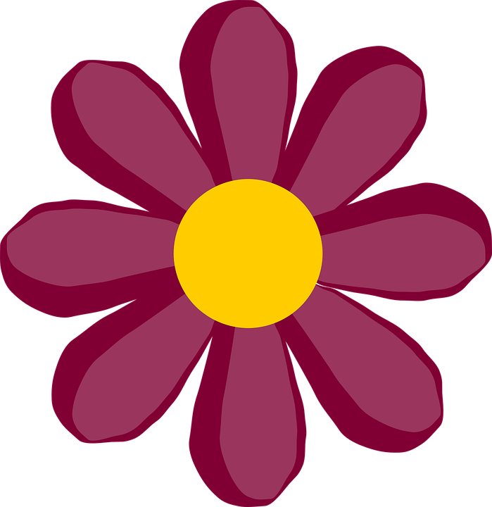 Pink flower animated free. Flowers clipart cute