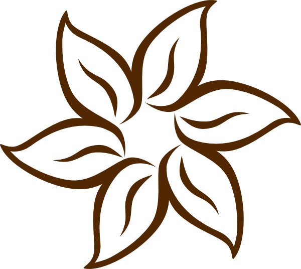 Brown flower clip art. Flowers clipart larkspur