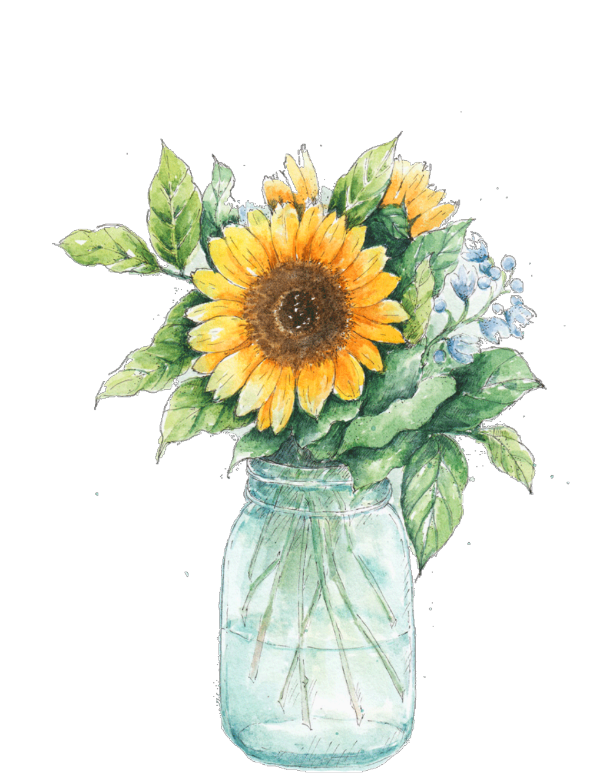 Jar clipart sunflower, Jar sunflower Transparent FREE for ...