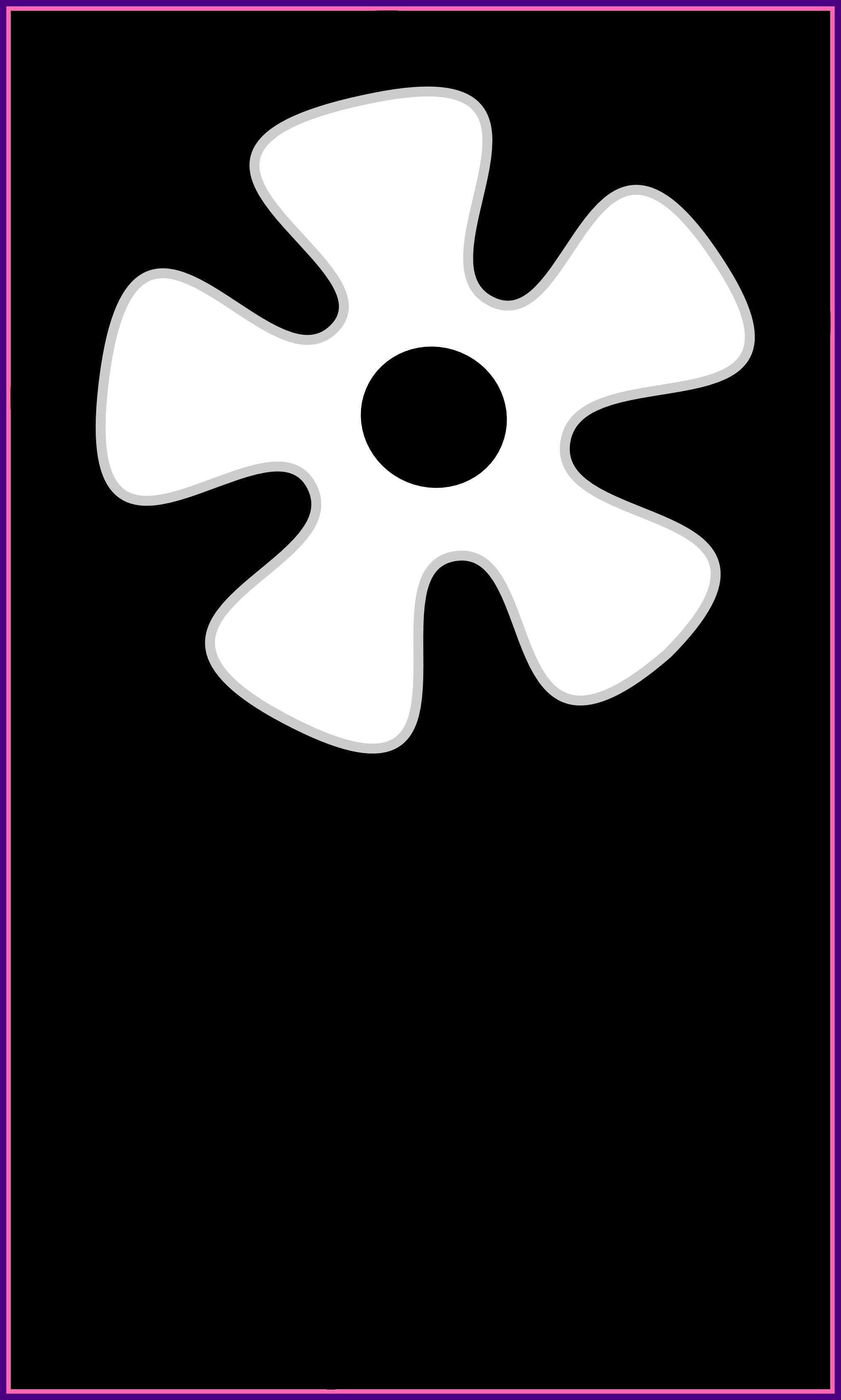 Flower clipart outline. Marvelous sun black and