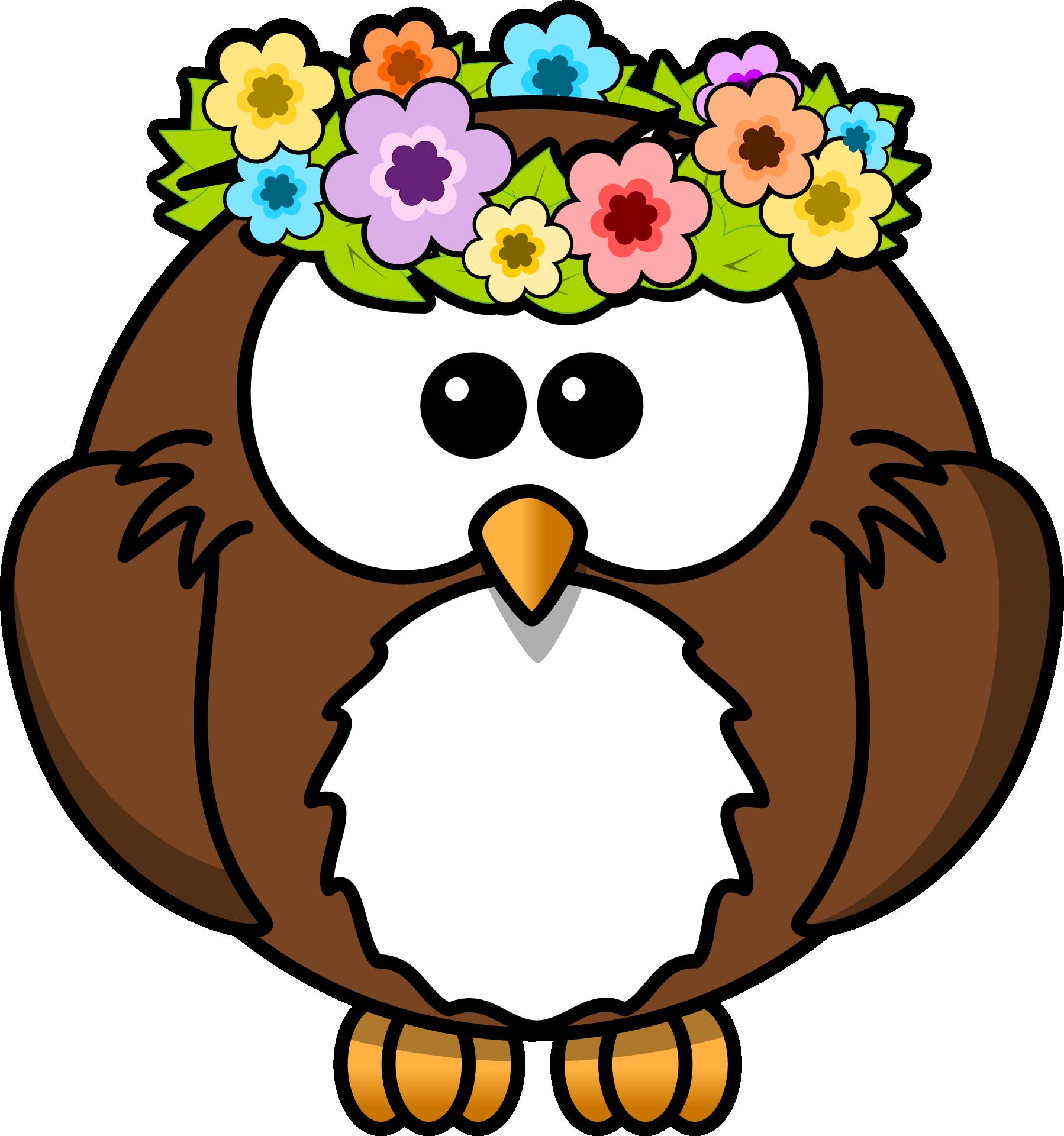 Flowers clipart owl.  buhos imprimibles de
