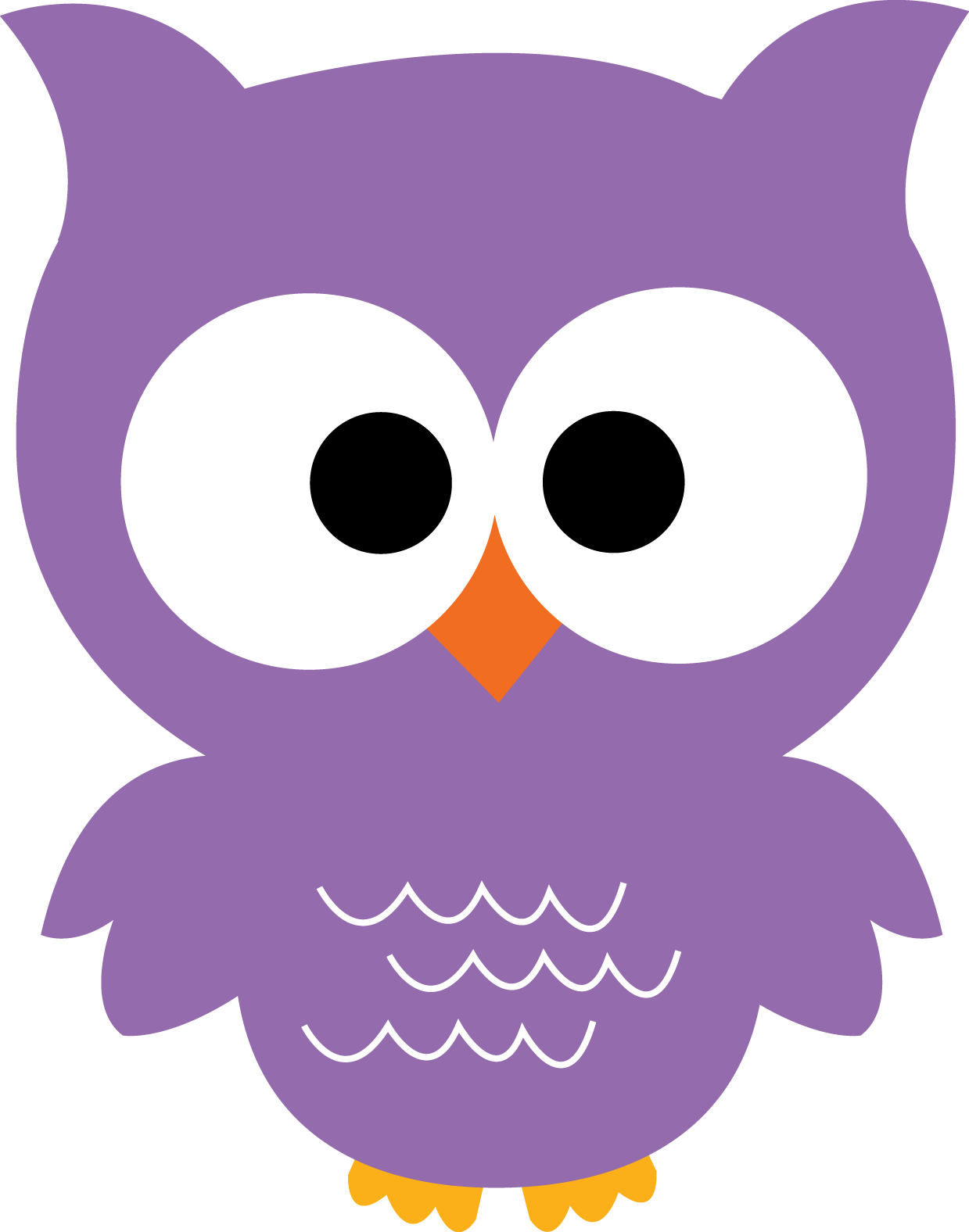 collection of owl. Purple clipart cute