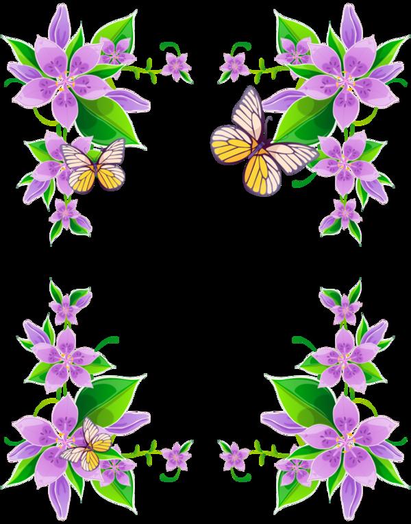Flowers clipart park. Cadres frame rahmen quadro