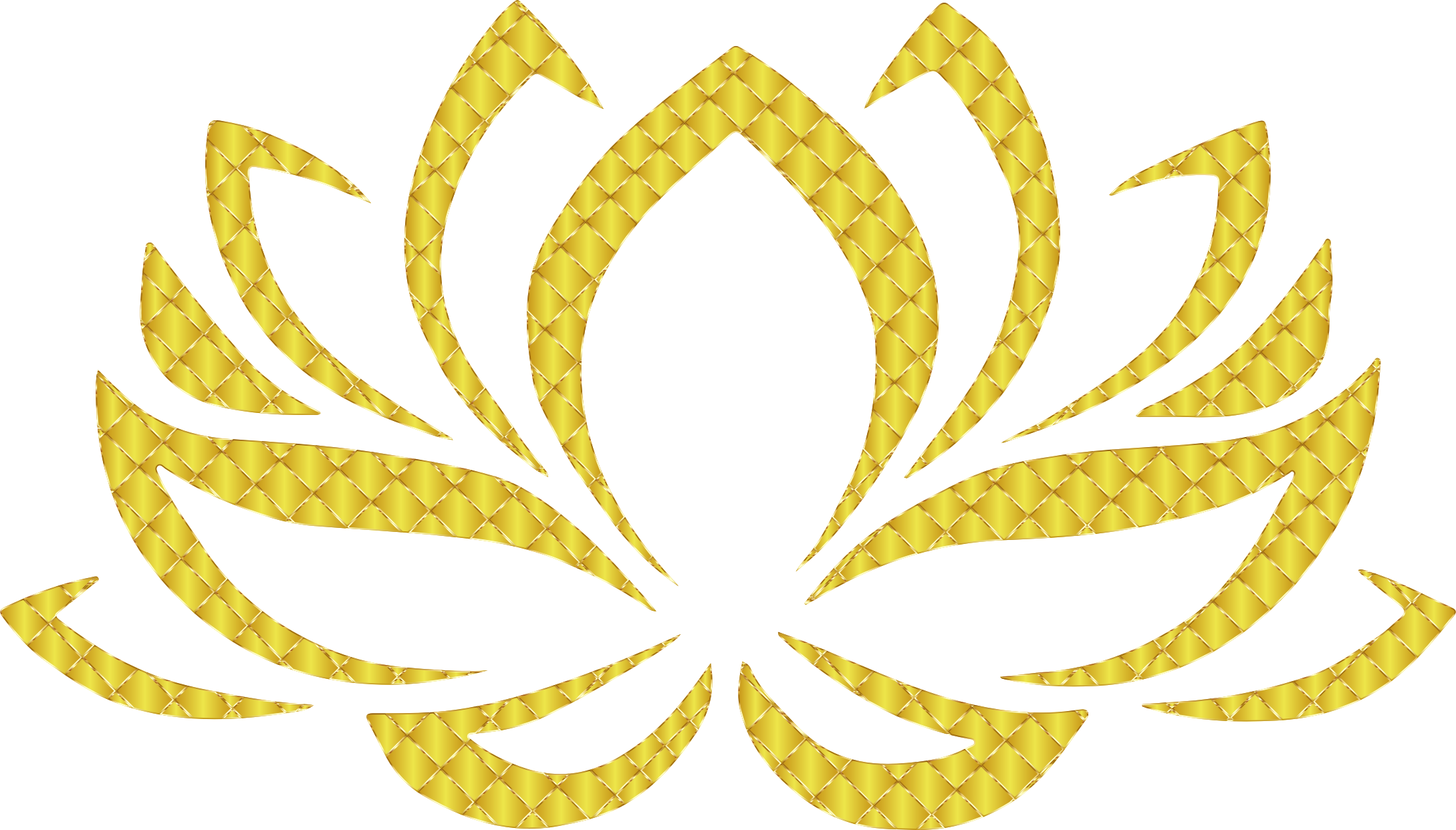Number 4 clipart gold. Golden lotus flower no