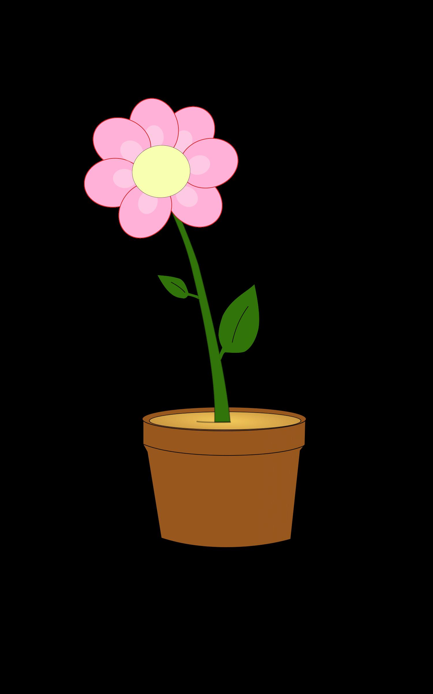 Flower clipart planter. Pot or vase modern