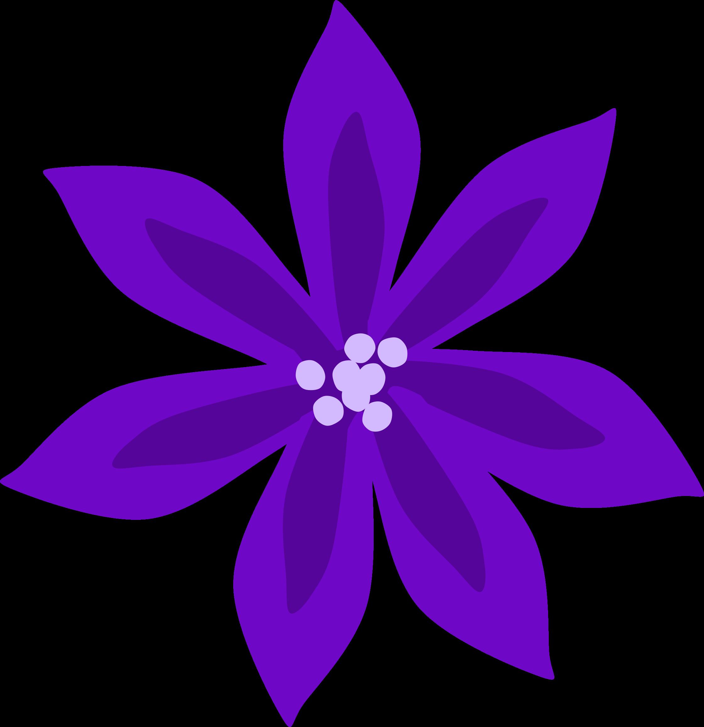 Purple lily big image. Lavender clipart cartoon