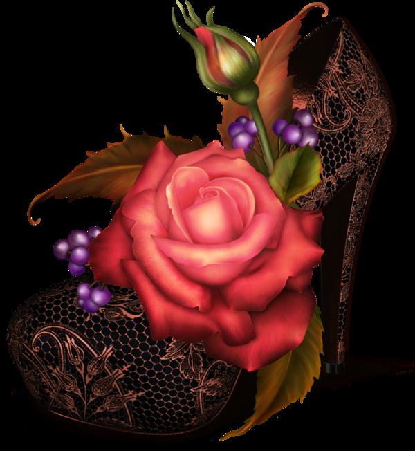 Chaussure pinterest. Flower clipart shoe