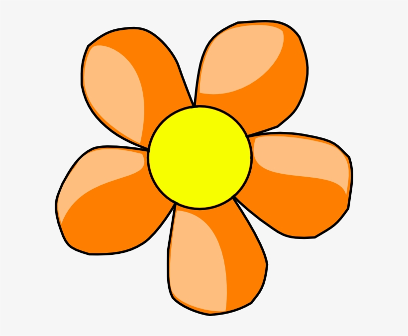 Black and white clip. Flower clipart simple