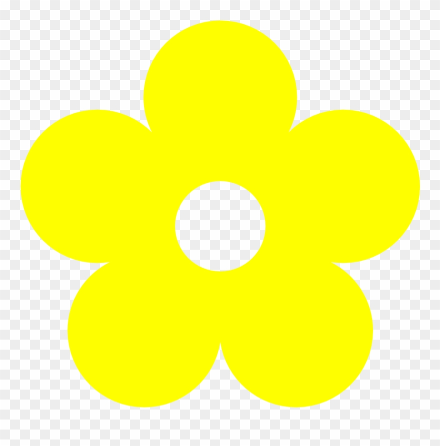 Flower clipart simple. Yellow drawing with color