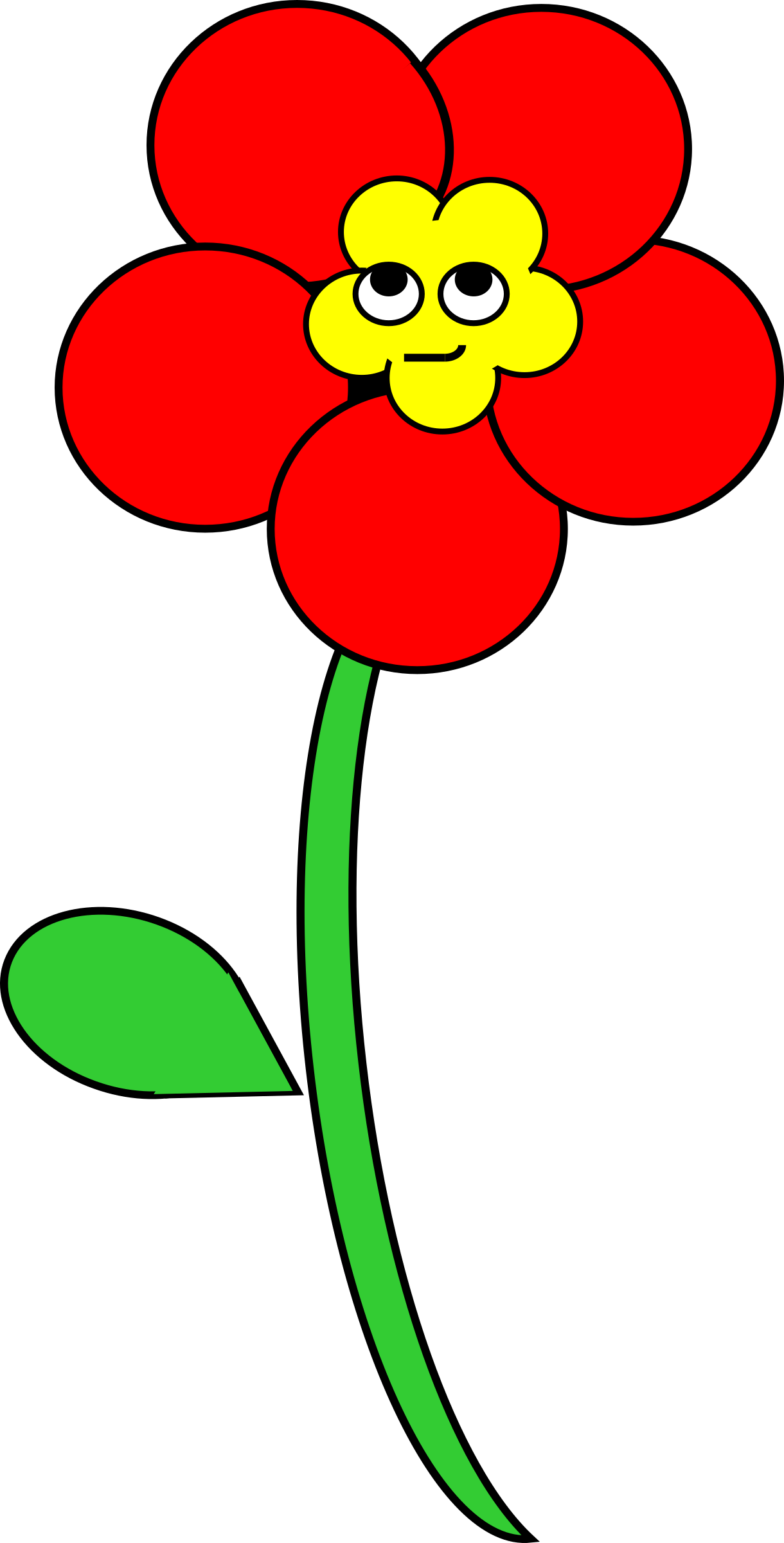 Flowers clipart smile. Smiling poppy big image