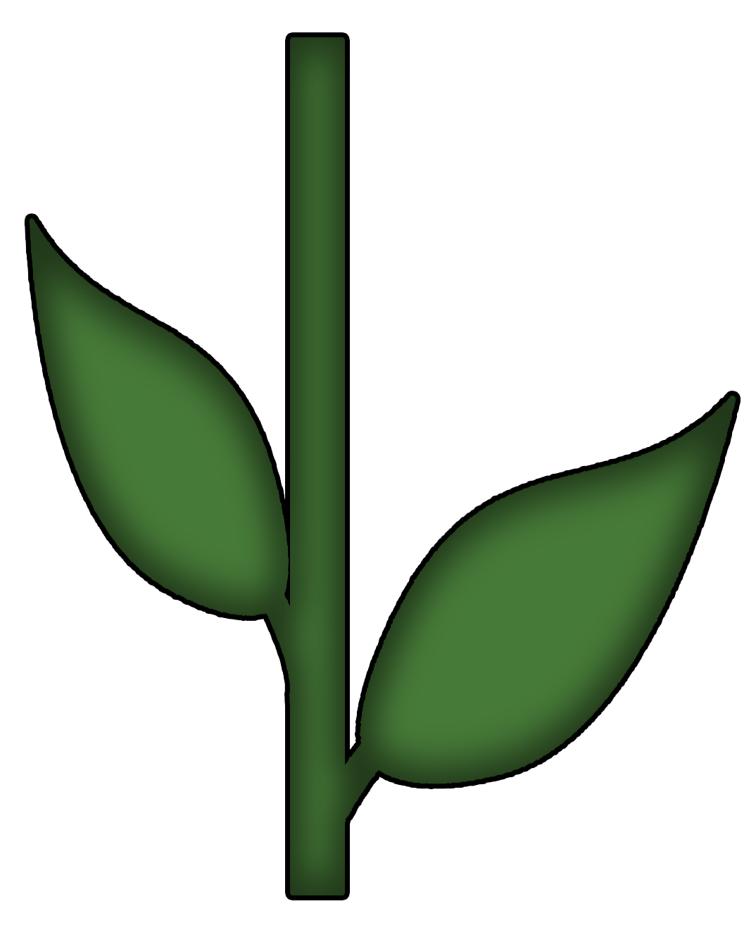 Flower clipart stems. Images of stem template