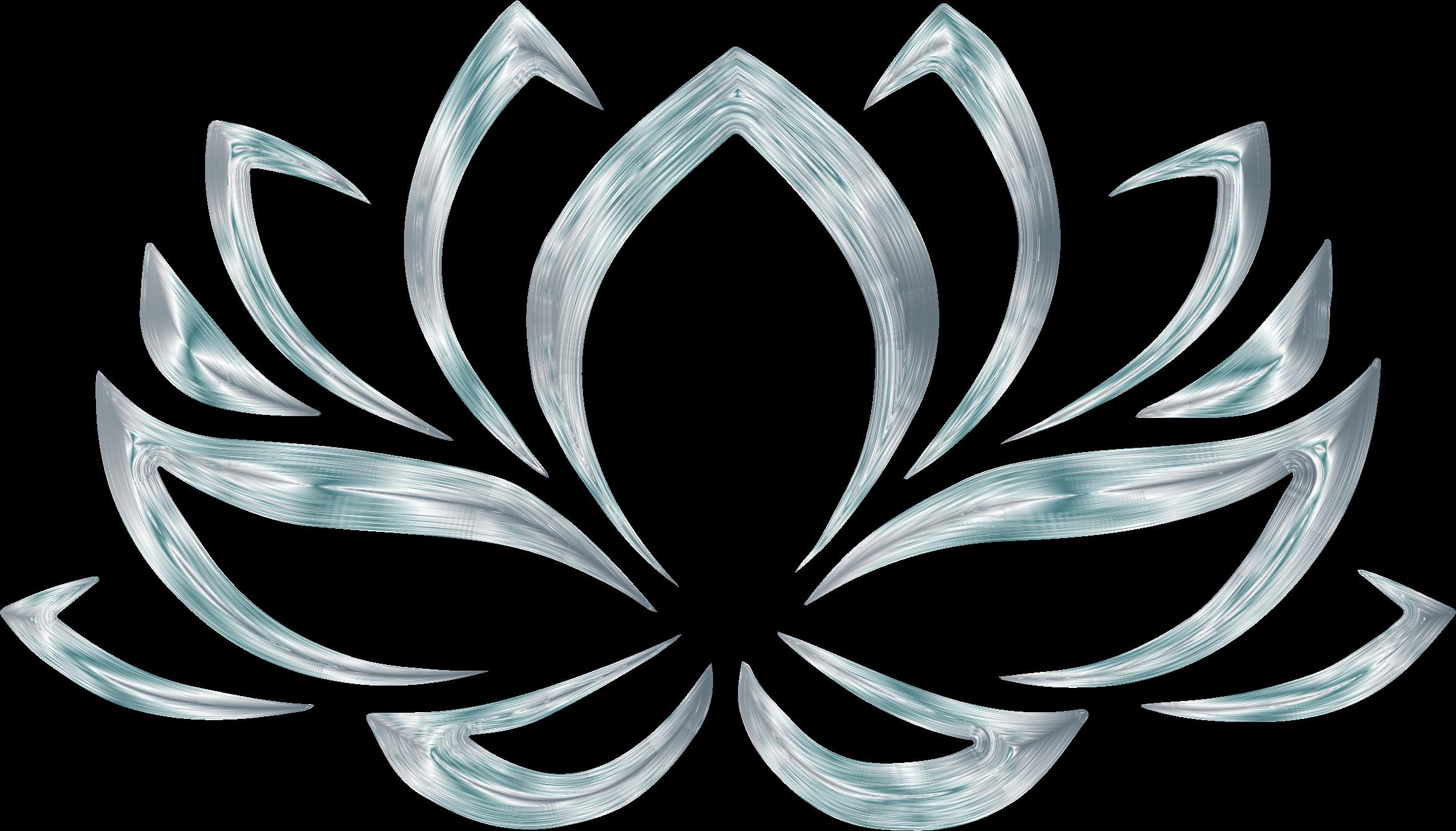 Silverized flower no background. Lotus clipart olu
