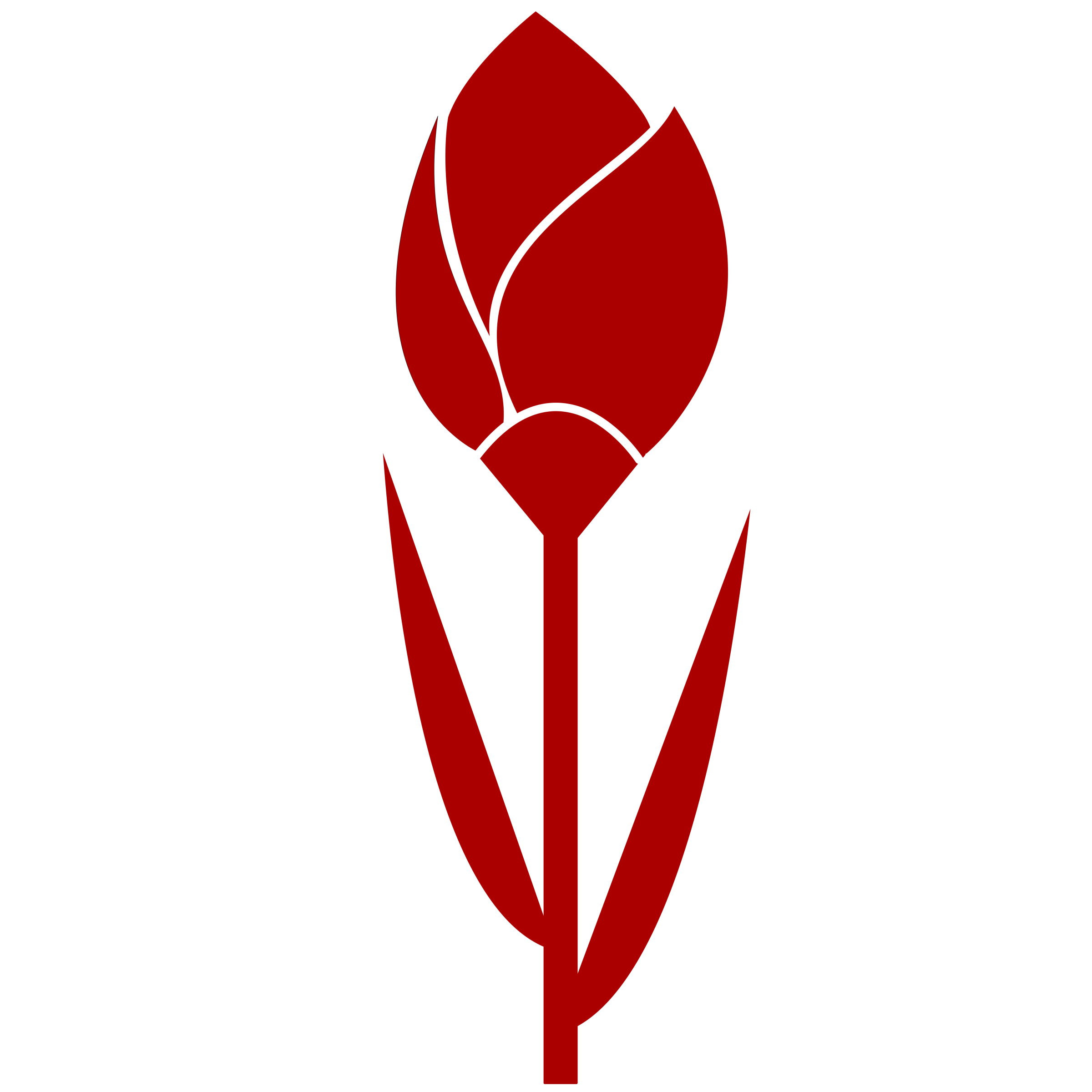Red clipart color. Tulip simple flower remixed