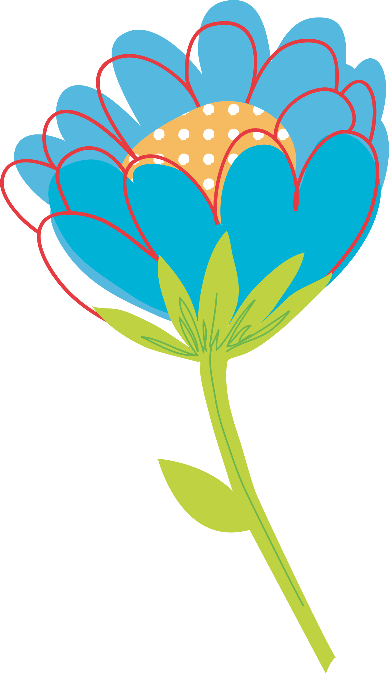 Flowers vector png. Blue flower by konand