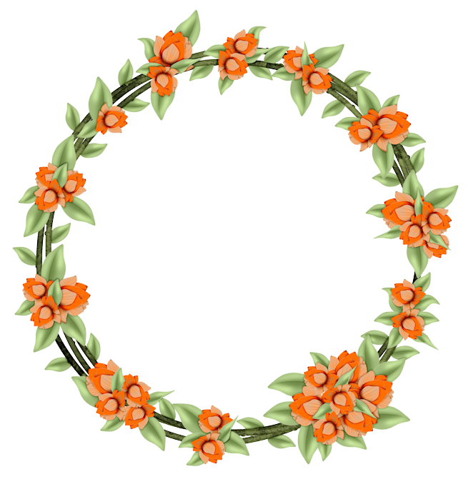 Flower Clipart Wreath  Flower Wreath Transparent Free For