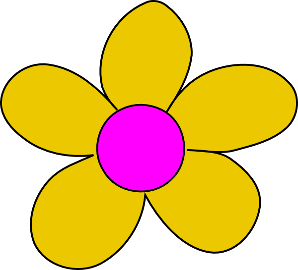 Flowers clipart yellow. Flower clip art at