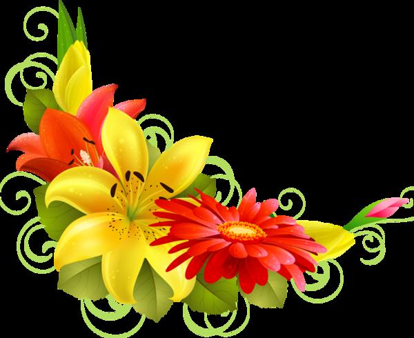 for free download. Flower corner png