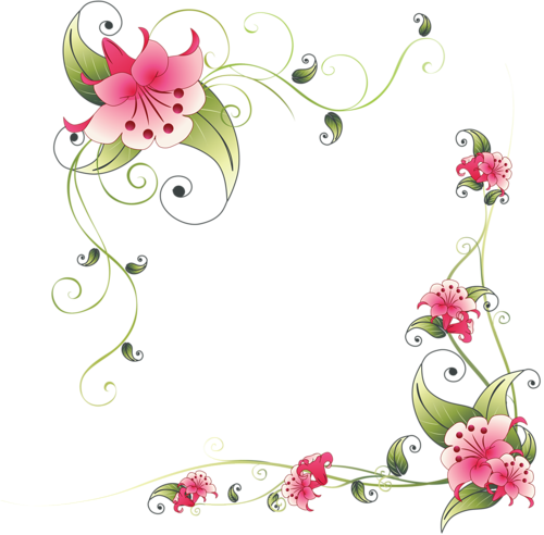 marcos pinterest and. Flower corner png