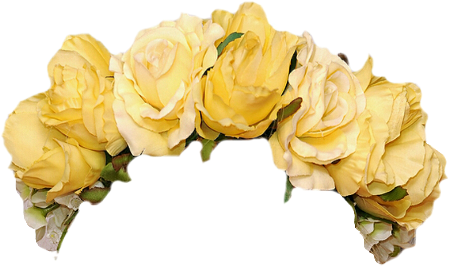 Flower crown png transparent. Yellow flowers accessories accessorie