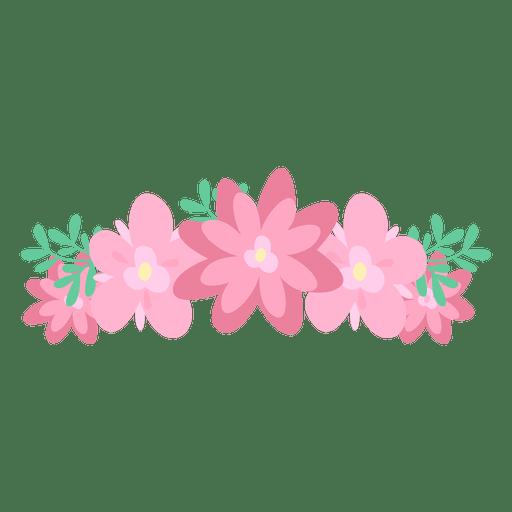 Pink svg vector. Flower crown transparent png