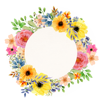 Floral design vectors psd. Vintage photo frame png