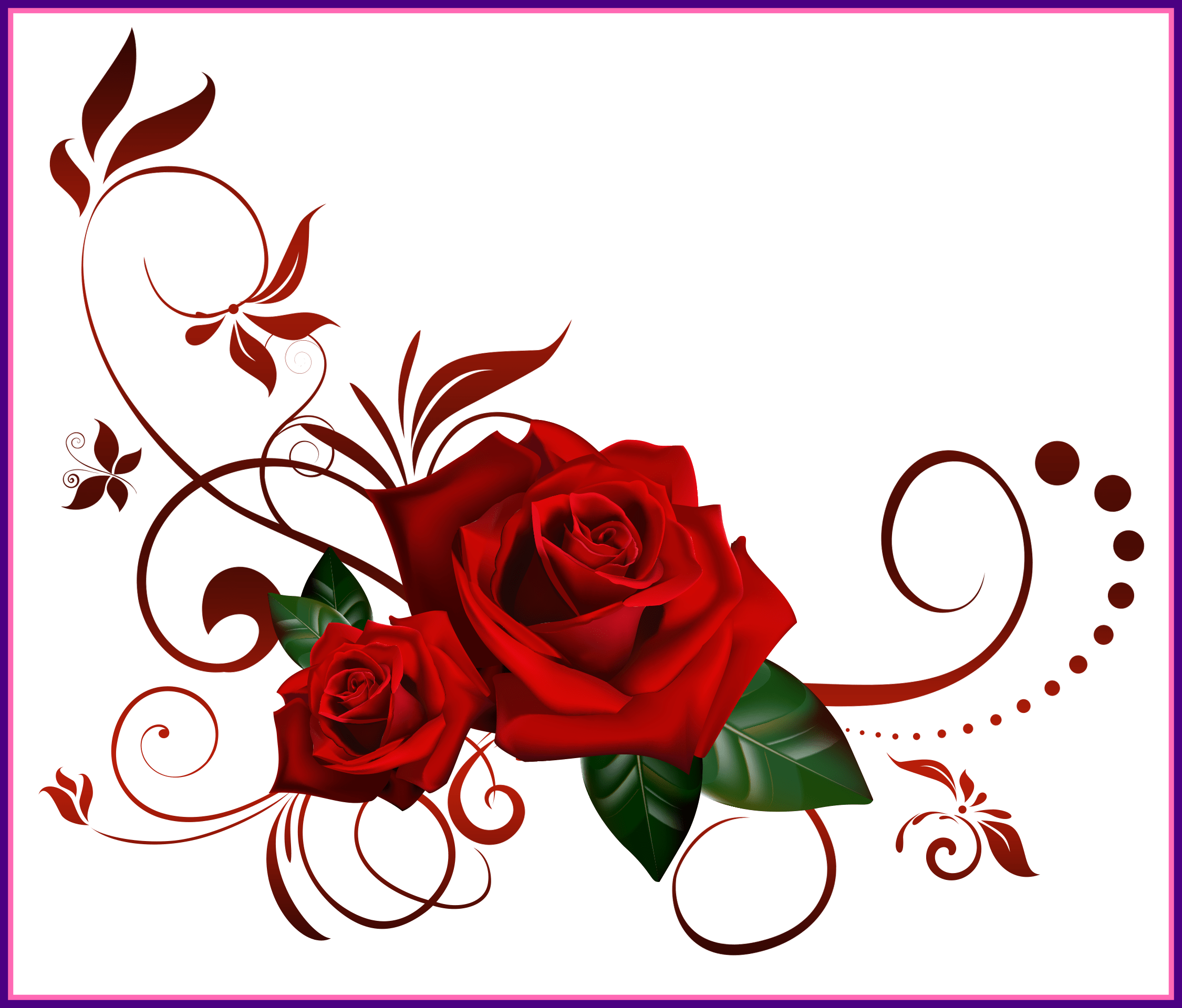 Awesome a heart frame. Flower design png