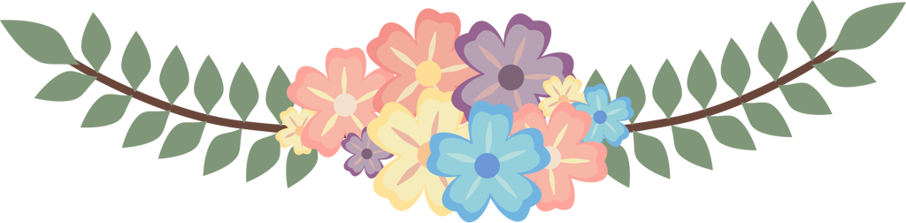 clip library huge. Flower divider png
