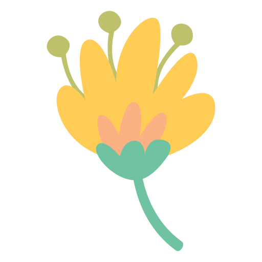 Flower doodle png. Icon transparent svg vector