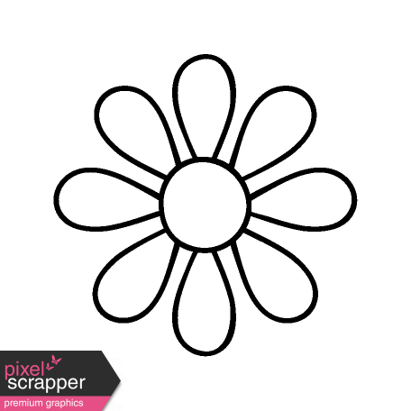 Flower doodle png. Template graphic by janet