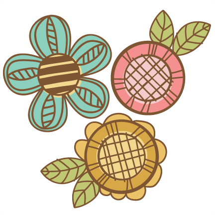 Flowers svg cutting files. Flower doodle png