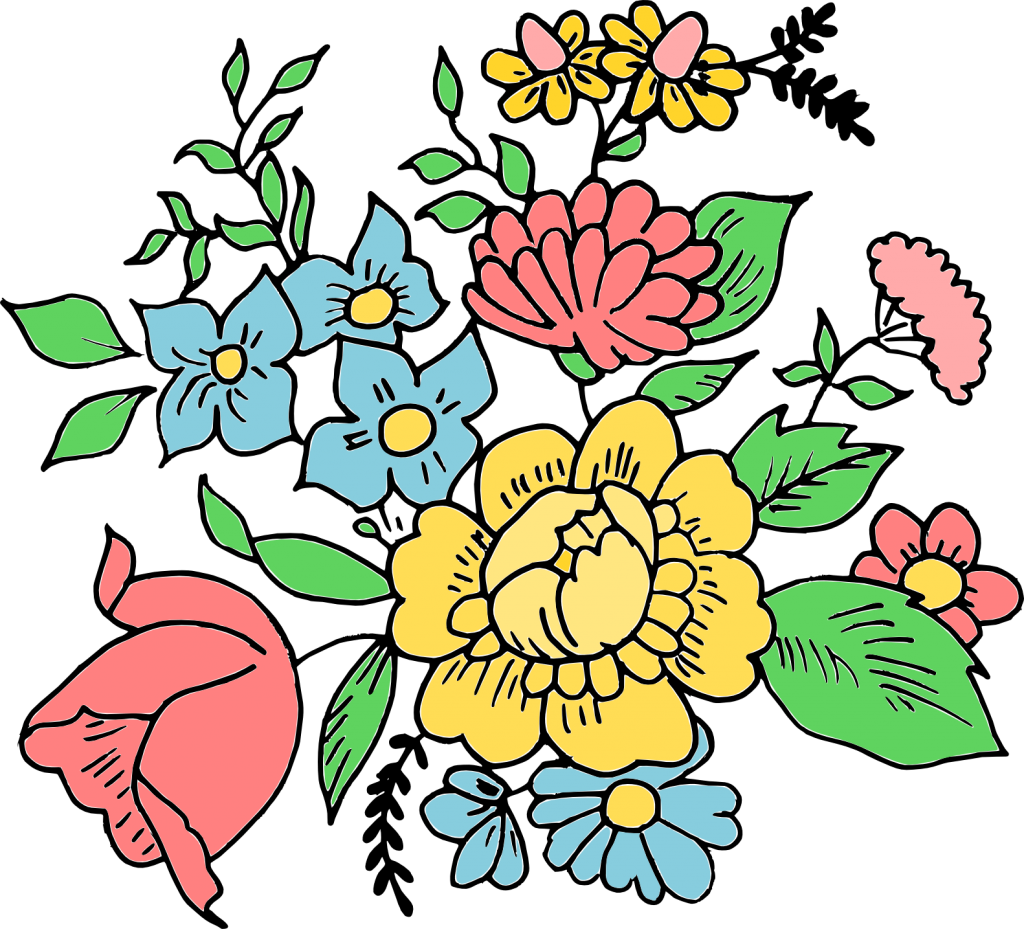 Flower drawing png.  ornament transparent onlygfx