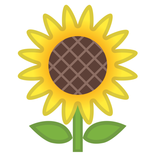 Flower emoji png.  google android oreo