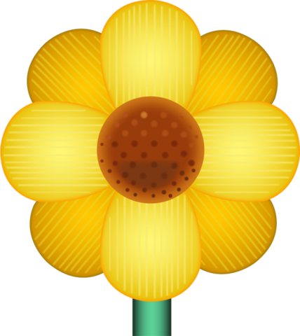 Download yellow blossom image. Flower emoji png