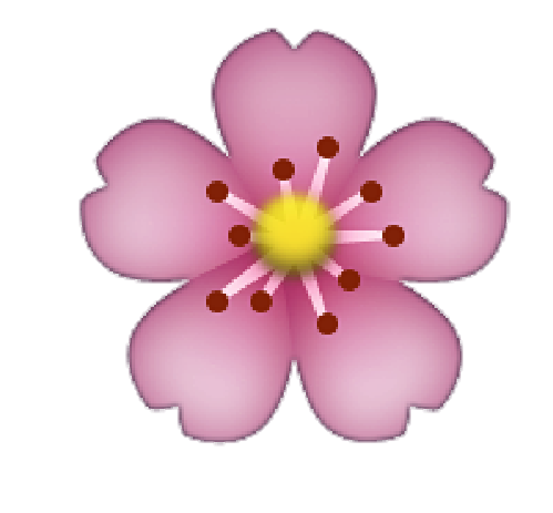 Flower emoji png. Image about love in