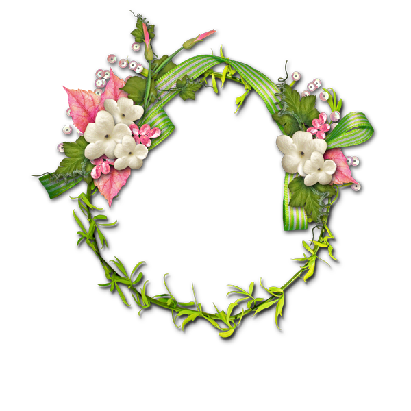 Flower garland png. Transparent border plant transprent
