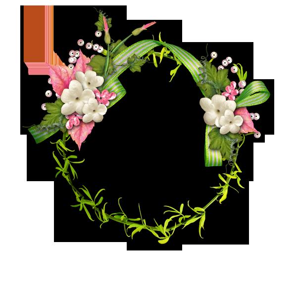 Flower garland png. Transparent border plant transprent