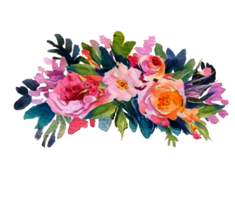 Floral flowers flowercrown sticker. Flower headband png
