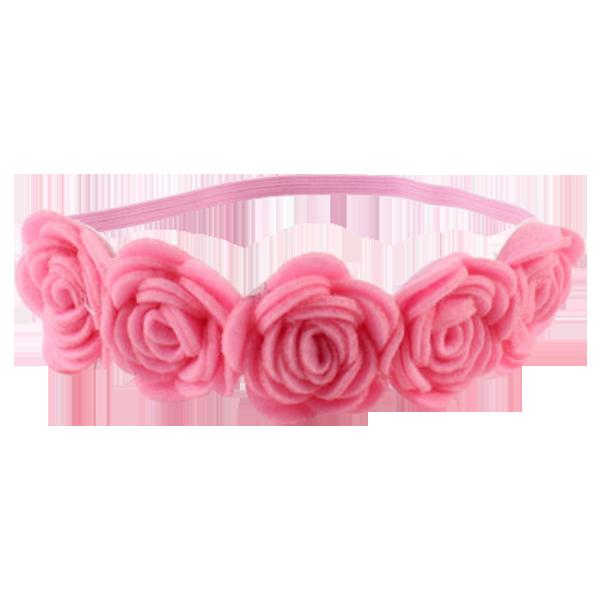 Flower headband png. Rose pink mini sesame