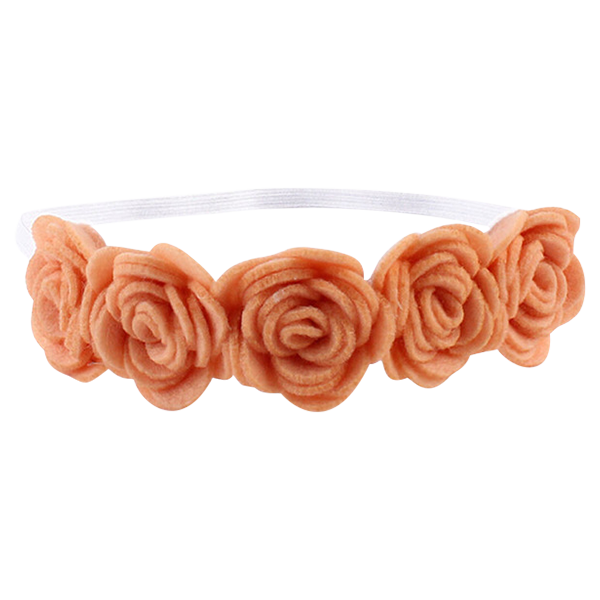 Rose dark khaki fresh. Flower headband png