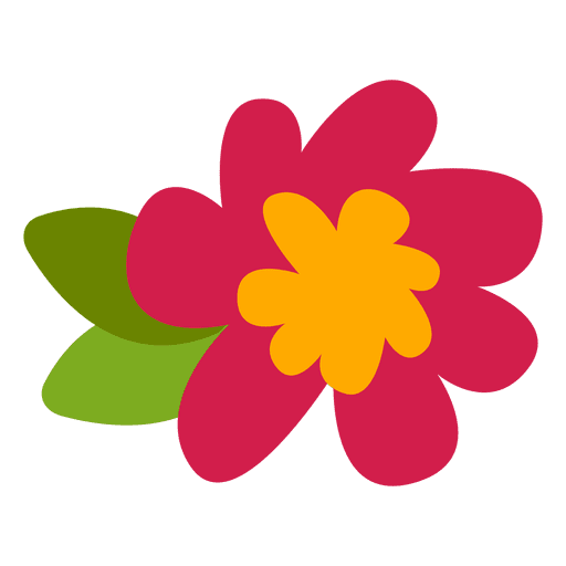 Flat doodle transparent svg. Flower illustration png