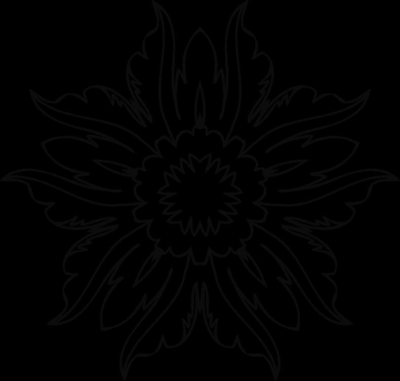 Flower line art png. Clipart medium image